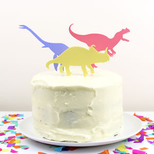 Dinosaur Cake Toppers - decoration