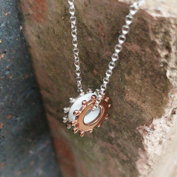 Silver And Rose Gold Perspex Necklace