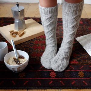 Cosy Aran Knitted Socks - christmas clothing & accessories
