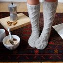 Cosy Aran Knitted Socks