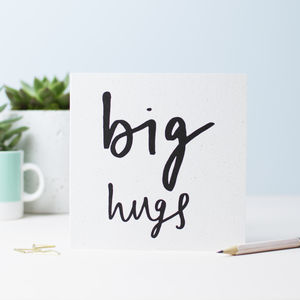 Big Hugs Greetings Card - shop by category