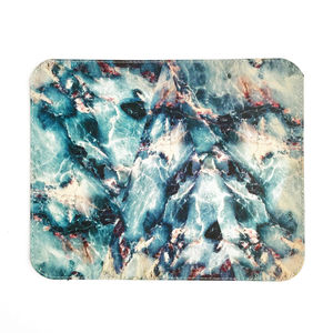 'Black Marble' Printed Leather Mouse Mat - summer sale