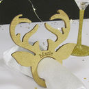 Personalised Stag Head Napkin Rings