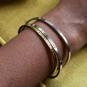 Mantra Bangle - women's