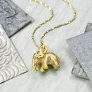 Gold Plated Sterling Silver Elephant Necklace