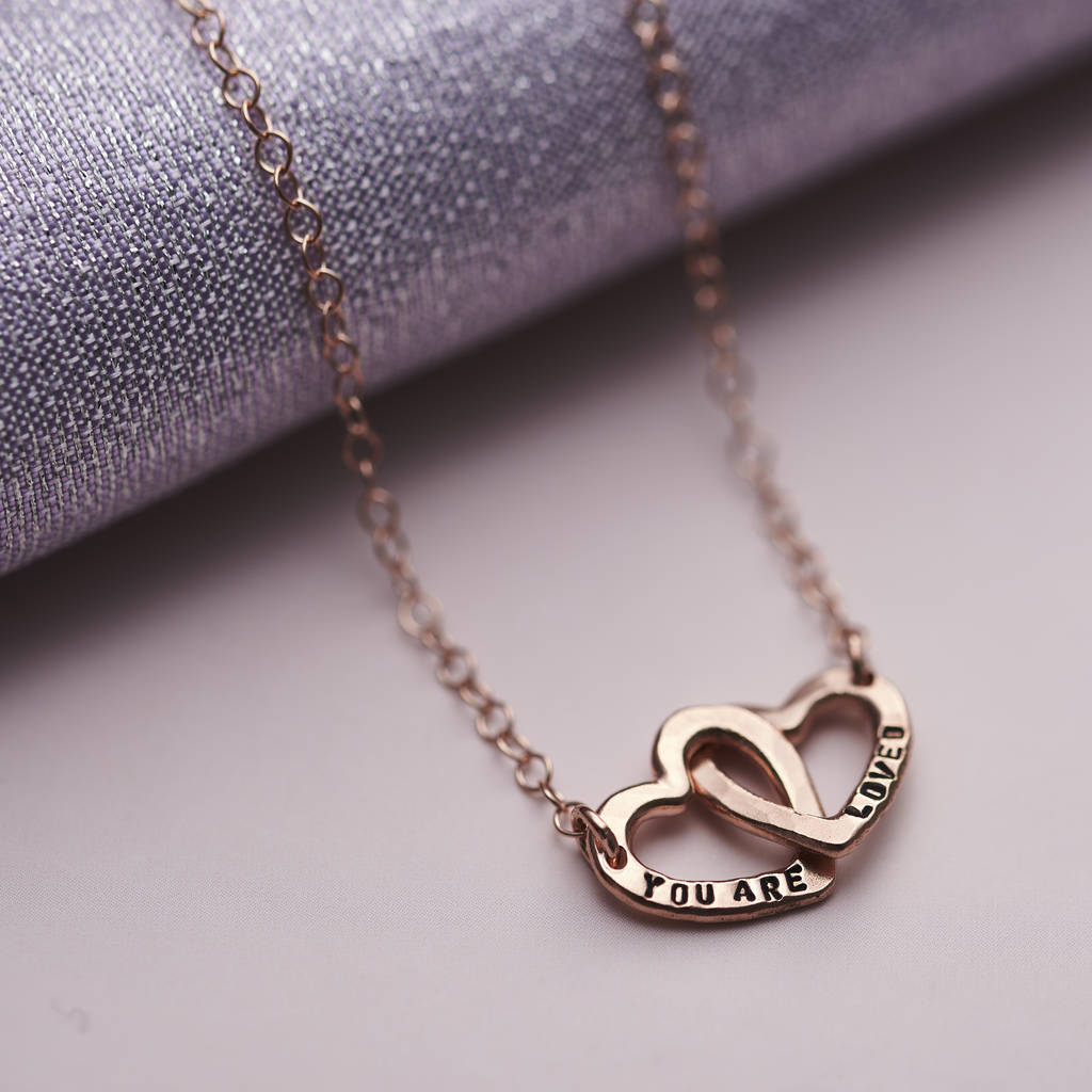 c9126ea6725ca Personalised Double Heart Names Necklace