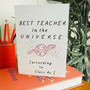 Personalised Thank You Card For Teachers - End Of School leaving Card For Teacher By Rock On Ruby
