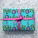 Palm Green Gift Wrap Two Sheets Folded