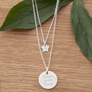 Personalised Layering Necklace Set Sterling Silver
