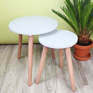 Concrete Effect Side Tables - children's room