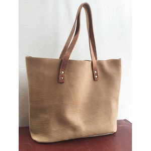 Vintage Handcrafted Leather Tote Bag