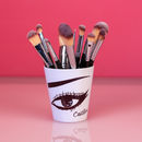 Personalised Make Up Brush Pot