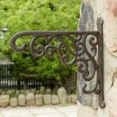 Two Vintage Style Distressed Garden Wall Brackets