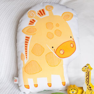 Personalised Giraffe Children's Cushion - patterned cushions