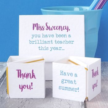 Personalised Pop Up Brilliant Teacher Card