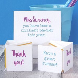 Personalised Pop Up Brilliant Teacher Card - thank you cards