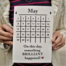 Personalised 'Brilliant Day!' Calendar Date Card