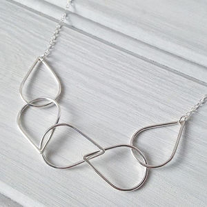 Silver Raindrop Chain Necklace - new in jewellery