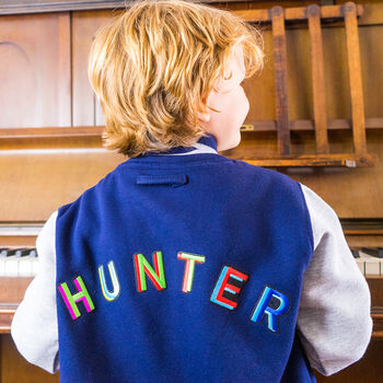 Personalised Childrens Colourful Applique Jacket