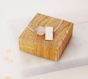 Quartz And Square Necklace - necklaces & pendants