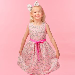 Clara Liberty Pink Cakes Print Dress - clothing