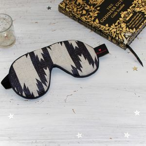 Luxury Tribal Jaquard Sleep Mask With Velvet