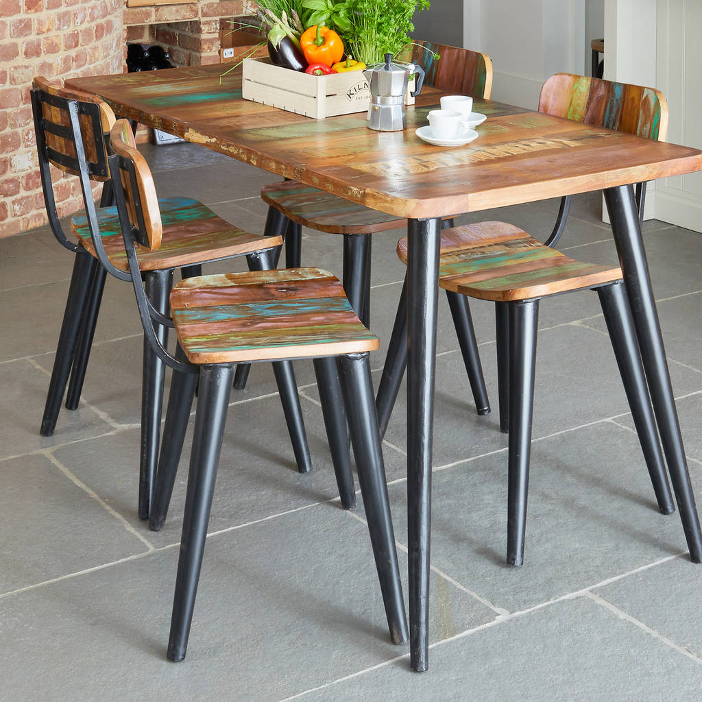 Dunes Reclaimed Wood Dining Chairs Set Of Two