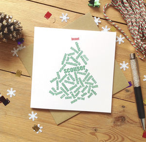 Personalised Liverpool 'Beaut' Scouse Christmas Card - cards