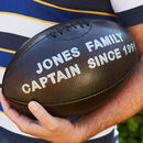 Personalised Hand Painted Leather Rugby Ball