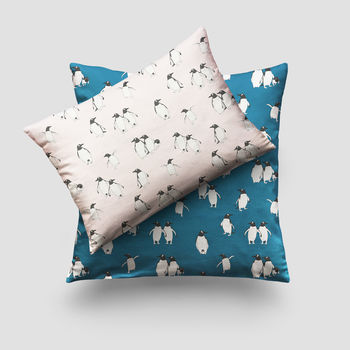 Penguin Print Cushion
