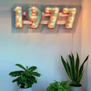 Personalised Year Sign Wall Light