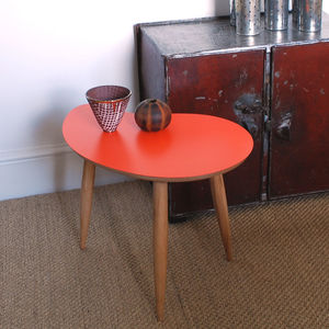 Coloured Comma Shape Table - furniture