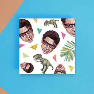 Goldblum And Dinosaur Pattern Greetings Card