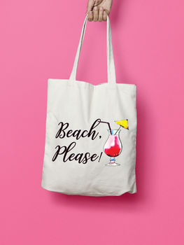 Beach Please Summer Tote Bag
