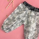 Girls Monochrome And Gold Woodland Animal Trousers