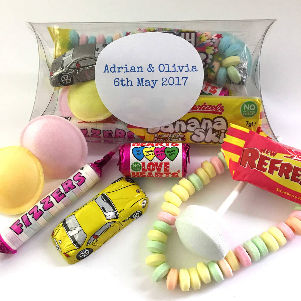 personalised sweets for birthday party bags by chocolate by cocoapod