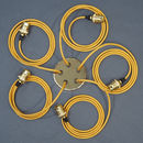 Gold Five Way Multi Outlet Ceiling Rose Pendant Kit