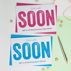 Get Well Soon Personalised Card - get well soon cards