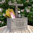 Personalised Engraved Beer And Gardening Crate