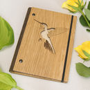 Wooden Hummingbird Notebook