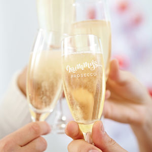 Mummy's Prosecco Glass - wedding gifts for mothers
