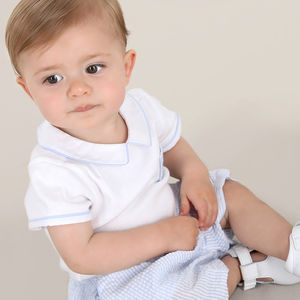 Baby Boy Traditional French Designer Two Piece Outfit - trousers & leggings