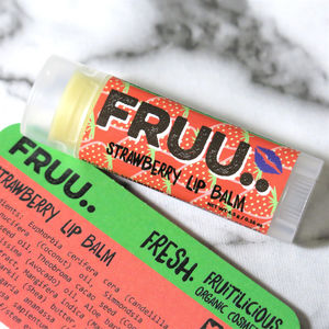 Organic And Vegan Strawberry Lip Balm