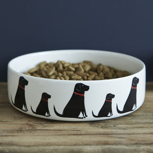 Black Labrador Dog Bowl - gifts for your pet