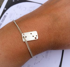 Personalised Constellation Mini Dog Tag Bracelet
