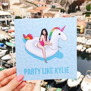 Central 23 Kylie Jenner 'Party' Greeting Card - birthday cards