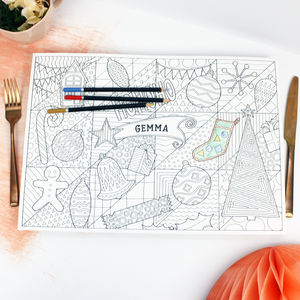 'Hohoho' Colouring Christmas Placemats Pack - kitchen