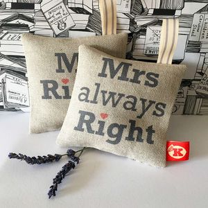 Mr And Mrs Lavender Bag Pair