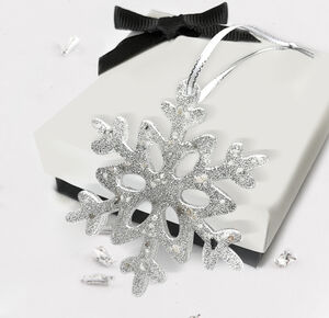 Memorial Ashes Snowflake Christmas Tree Decoration