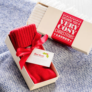 Cosy Christmas Mohair / Cashmere Bed Socks - gifts for her